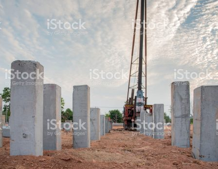 pile driving construction site no body